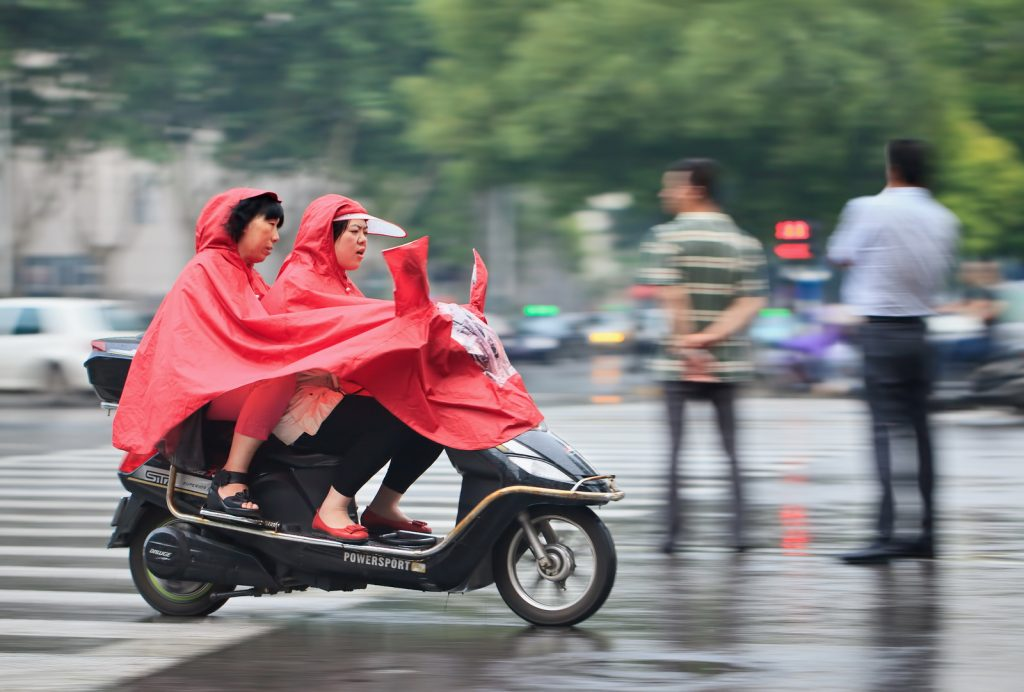 electric scooter rain